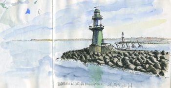 Leuchttürme an der Hafeneinfahrt Warnemünde