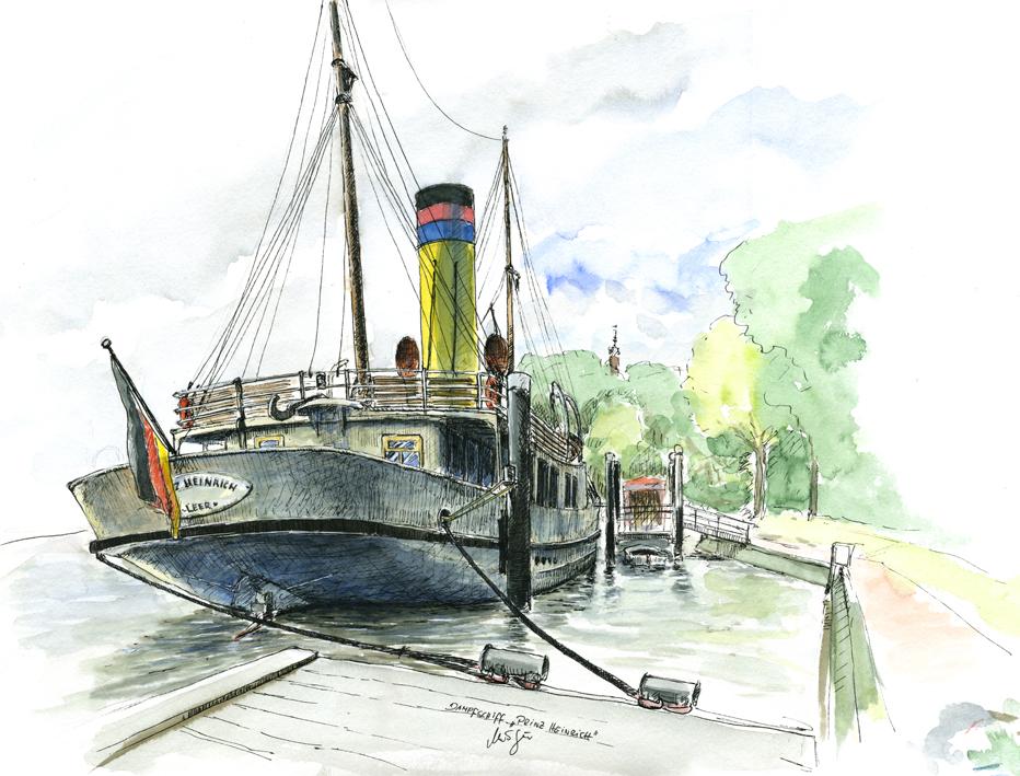 """Dampfschiff """"Prinz Heinrich"""", Leer"""