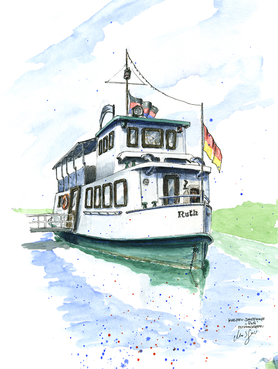 "Der Kneipen-Dampfer ""Ruth"", Ostrhauderfehn"